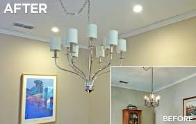 medium size of replace chandelier before and after 4 install over ceiling fan updated lighting residential