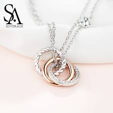 <b>SA SILVERAGE 925</b> Sterling Silver Long Necklaces Pendants for ...