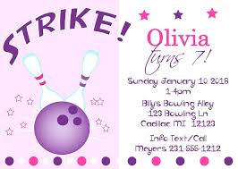 Bowling Party Invitations Girl Bowling Birthday Party Invitations Bowling Birthday Party