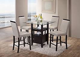 amazon kings brand 5 piece counter height dining set table dining room table with 4 chairs