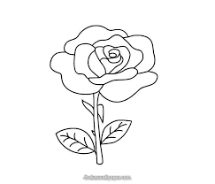 Small Picture Roses Flower Coloring Pages Rose Flower Coloring Pages In Flowers