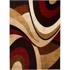 tribeca brown red 5 ft x 7 ft indoor area rug