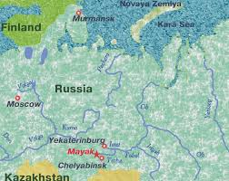 Image result for kyshtym disaster map