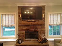 reclaimed barn wood fireplaces