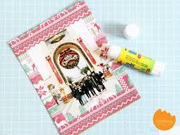 diy wrapping paper photo frame via onelmon