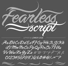 Best Tattoo Fonts Fearless Script Tattoo Fonts Classy Download Best Tattoo Pictures