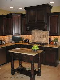 Travertine Flooring In Kitchen Custom Kitchen Cabinets Island With Granite Countertops Tile