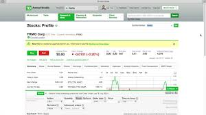 How To Find And Buy Penny Stock W Td Ameritrade 3 Min The