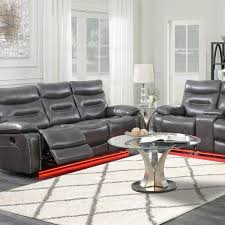 picture of ritz grey reclining sofa loveseat