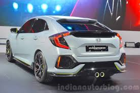 honda civic hatchback 2016. Contemporary Hatchback Honda Civic Hatchback Prototype Rear Three Quarters At The 2016 Geneva  Motor Show With E