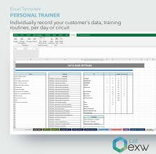 Training Tracking Template Personal Trainer Template