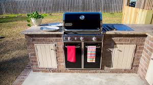 How To Build Cabinets For An Outdoor Kitchen Today's Homeowner Cool Wood Stove Backsplash Exterior