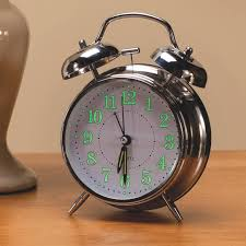 vintage glow in the dark alarm clock