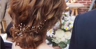 花嫁ヘアに採用決定話題の小枝アクセサリーを使ったヘアアレンジ