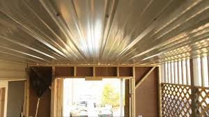 Cheap Ceiling Ideas Cheap Under Deck Ceiling Youtube
