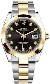 126303 black diamond oyster rolex datejust 41mm stainless steel availability rolex datejust 41mm steel and yellow gold mens watch