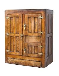 all original and intact early 20th century salvaged chicago golden oak wood bohn syphon refrigerator or