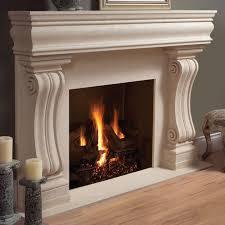 mantel cast stone fireplace