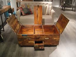 fancy wooden storage table 28 large chest trunk rustic vintage blanket box coffee canada 1