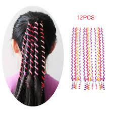Designs For Kids Hair Sangaitianfu 12pcs Spiral Hair Styling Braid Twister Clips Braider Tool Accessories Rainbow Colorful Design Kids Party Favor