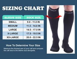 Doc Miller Size Chart Closed Toe Compression Socks 20 30 Mmhg