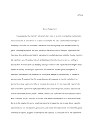 Genre Assignment - Chemistry Lab Report | Experiment | Genre