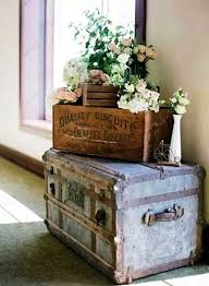 Love Decorating with OLD stuff and especially adding flowers for some color