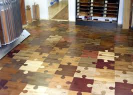 flooring idea looks like puzzle pieces out of wood great idea for a game room or kids room