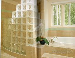 love this tiered glass block wall shower ideas