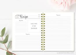 Printable Recipe Pages Cook Book Binder Letter Size Recipe Etsy