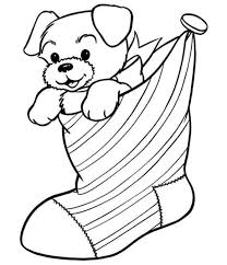Small Picture Free Coloring Pages Christmas Cat In Stocking Christmas Coloring