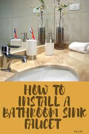 install bathroom sink faucet. Bathroom Faucets Install Sink Faucet N