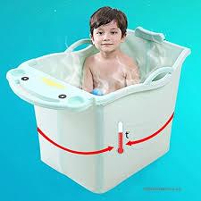 baby bathtub children s bath bucket rectangle plastic collapsible bathtub bathtubs b07g8phb2c