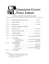 Charleston County Public Library Board of Trustees Agenda 5:15 p.m.,  September 27, 2016 | Auditorium, Otrant