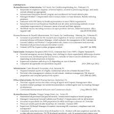 Wonderful Resumes For Hr Generalist Contemporary Entry Level