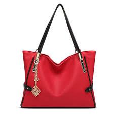 tagdot brand pu leather tote bag for women blue black red fashion shoulder big tote bag waterproof designer large handbags