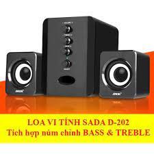 Bộ Loa Máy Tính USB SADA D-202 Công Suất Lớn Bass Chuẩn, Âm Thanh Tuyệt  Đỉnh, Thiết Kế Bắt Mắt Sang Trọng - Loa Vi Tính