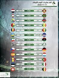 مواعيد أهم مباريات اليوم الأربعاء 11-11-2020 والقنوات الناقلة - التيار  الاخضر التيار الاخضر 6:48 ص
