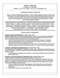 Payroll Resume Fascinating Payroll Manager Resume Outathyme