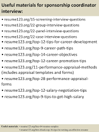 Sponsorship Resume Template Custom Top 48 Sponsorship Coordinator Resume Samples