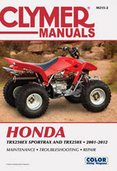 honda atv manuals diy repair manuals clymer honda trx250 sportrax series atv 2001 2012 service repair manual