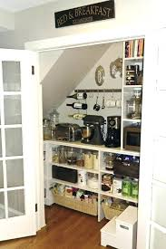 under stairs pantry turn under stairs closet into pantry kitchen shelving stair storage full size of