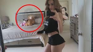 Hot teen caught on cam