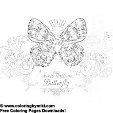 Elegant Butterfly Queen Coloring Page 1135 Ultimate Coloring