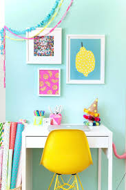 bright colorful home. Colorful Home Office Chairs This Bright And Makeover Is Easy To Do Perfect For Anyone Who Light Colored R