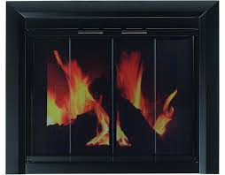 pleasant hearth clairmont fireplace glass door