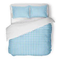 Light Blue Gingham Duvet Cover Amazon Com Tarolo Bedding Duvet Cover Set Firebrick Gingham