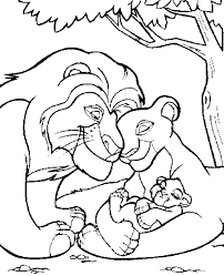 Small Picture Simba The Lion King With Family Coloring Pages Coloring pages