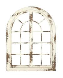 iron and wood wall decor window traditional arched whitewashed wooden by