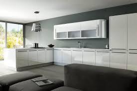High Gloss White Kitchen Cabinets Design